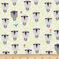 Cloud9 Fabrics Organic Favorites Sheep White/Multi