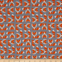 Cloud9 Fabrics Organic Ed Emberley Favorites Foxes Grey