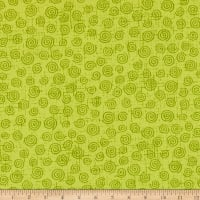"Westrade 110"" Wide Quilt Back Swirls  Lime"