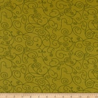 "Westrade 110"" Wide Quilt Back Willow Olive"