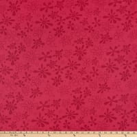 "Westrade 110"" Flannel Wide Quilt Backs Flower Power Magenta"