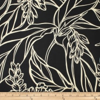 Trans-Pacific Textiles Rayon Challis Ginger Rendezvous Black/Cream
