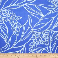 Trans-Pacific Textiles Rayon Challis Ginger Rendezvous Blue/Sky