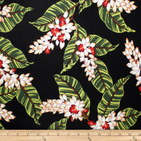Trans-Pacific Textiles Rayon Challis Shell Ginger Song Black