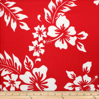 Trans-Pacific Textiles Rayon Challis Classic Pareo Red/White