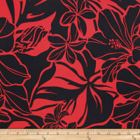 Trans-Pacific Textiles Matte Jersey Knit All About the Bloom Red