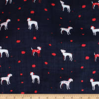 Telio Verona Cotton Rayon Voile Puppy Love Navy