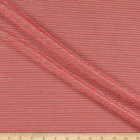 Telio Novelty Metallic Light Weight Knit Rib Red Ecru
