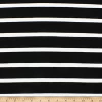 Telio Novelty Micro Rib Sweater Knit Stripe Black/Off White