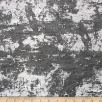Telio Electric Love Metallic Foil Stretch Crinkle Mesh Black Silver