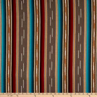 Laura & Kiran Outwest Stripes Colorado Basketweave Gray Multi
