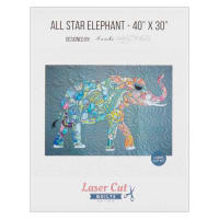 Laser Cut Quilts All Star Elephant Laser Cut Applique Kit