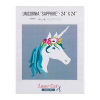 Laser Cut Quilts Unicornia Sapphire Laser Cut Applique Kit