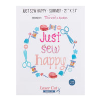 Laser Cut Quilts Just Sew Happy Summer Colorway Laser Cut Applique Kit