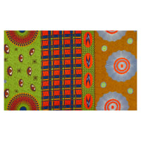 Supreme Holland African Wax Print Collage 6 Yards Green Record