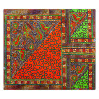 Supreme Holland African Wax Print 6 Yards Green Virus