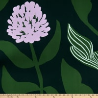Marimekko Kasvio Cotton Broadcloth Green/Pink