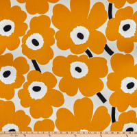 Marimekko Pieni Unikko Cotton Broadcloth Goldenrod