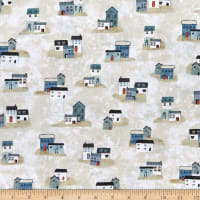 P&B Textiles Sailors Rest Small Houses Multi