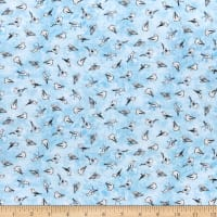 P&B Textiles Sailors Rest Sea Gulls Blue