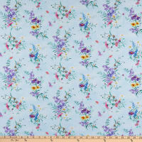 P&B Textiles Cotton Tales Allover Wildflowers Multi
