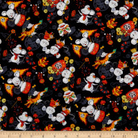 Trans-Pacific Textiles Lucky Year of the Rat Black