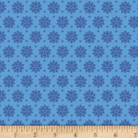 Stoffabric Denmark Tiled Up Flowers Baby Blue