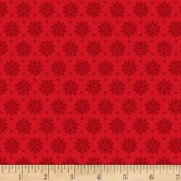 Stoffabric Denmark Tiled Up Flowers Red/Red
