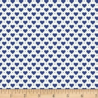 Stoffabric Denmark Tiled Up Hearts & Lines Blue