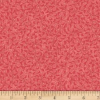 Stoffabric Denmark Colourflow Leaves Coral