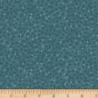 Stoffabric Denmark Colourflow Leaves Turquoise