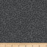 Stoffabric Denmark Colourflow Leaves Charcoal