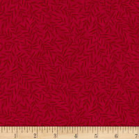 Stoffabric Denmark Colourflow Leaves Red