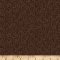 Stoffabric Denmark Colourflow Leaves Brown