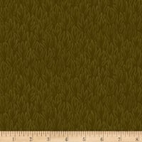 Stoffabric Denmark Colourflow Leaves Olive