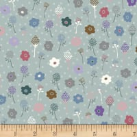 Stoffabric Denmark Flower and Dot Flowers Multi