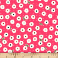 Stoffabric Denmark Flower and Dot Multi Flowers Red