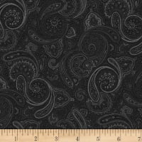 Stoffabric Denmark Ruby-Rose Paisley Pattern Black