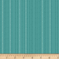 Stoffabric Denmark Gardening Stripes Digital Green