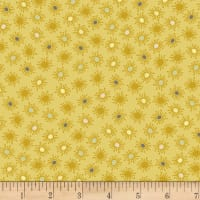 Stoffabric Denmark Blooming Garden Small  Flowers Yellow