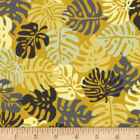 Stoffabric Denmark Blooming Garden Leaves Yellow