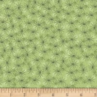Stoffabric Denmark Blooming Garden Small Flowers Green