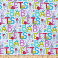 Fun Flannels Sweet Baby White
