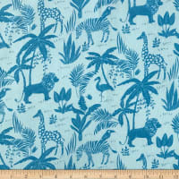 Fun Flannels Jungle Blue