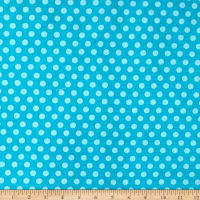 Fun Flannels Dots Aqua