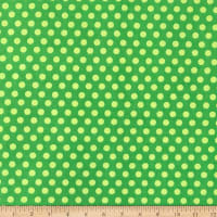Fun Flannels Dots Green