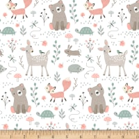 "Exclusive Fabric Editions 36"" x 42"" Pre-Cut Woodland Animals Cotton"