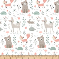 "Exclusive Fabric Editions 36"" x 42"" Pre-Cut Woodland Animals Flannel"