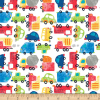 "Exclusive Fabric Editions 36"" x 42"" Pre-Cut Cars And Trucks Flannel"