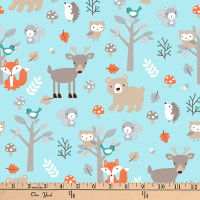 "Exclusive Fabric Editions 36"" x 42"" Pre-Cut Sweet Woodlanders Flannel"